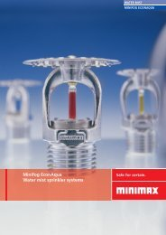 Minifog EconAqua water mist sprinkler systems