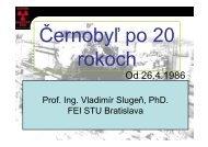 9. Havária v Černobyľe - Katedra jadrovej fyziky a techniky STU
