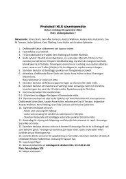 Protokoll HLS styrelsemöte