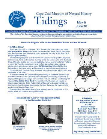 May/June 2010 Tidings Newsletter - Cape Cod Museum of Natural ...
