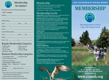 membership - Cape Cod Museum of Natural History