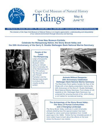 May/June 2012 Tidings Newsletter - Cape Cod Museum of Natural ...