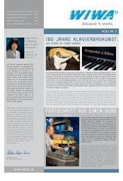 180 jahre klavierbaukunst fortschritt aus einem guss - WIWA
