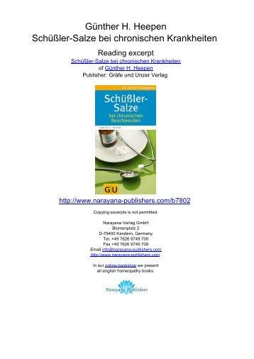 Günther H. Heepen Schüßler-Salze bei ... - Narayana Publishers