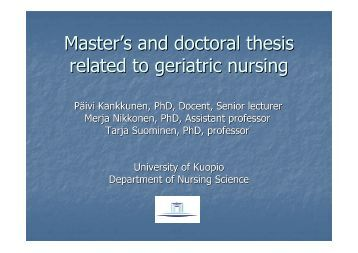 thesis unnoted to authorship