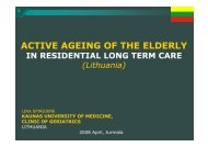 Active ageing of the elderly in residential long term care institutions