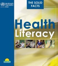 Health literacy : The solid facts - WHO/Europe - World Health ...