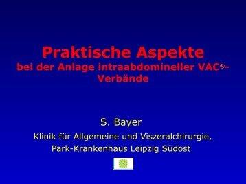 2. Praktische Aspekte bei der Anlage intraabdomineller V.A.C.