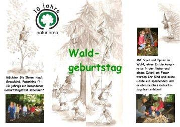 Flyer Waldgeburtstag - natur & umwelt ob- nidwalden