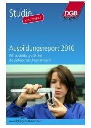 Ausbildungsreport 2010 - DGB-Jugend Sachsen