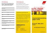 Argumentationstraining gegen rechts - DGB-Jugend Sachsen