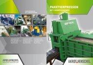 Baureihe PTC - 11 Modelle von 3 bis 60 t/h ... - Akros Henschel