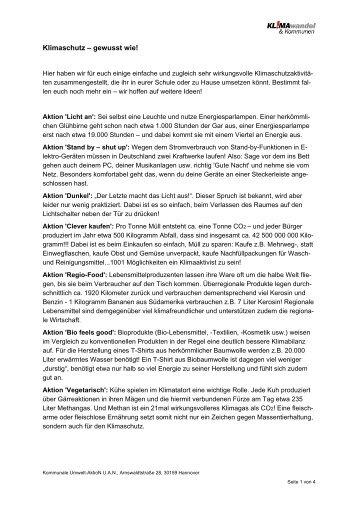 Klimaschutz – gewusst wie! - Greenmark IT GmbH