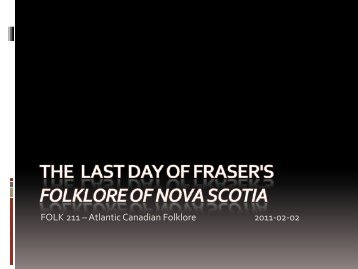 Fraser: Chapters 13, 14, 15, and 16 - Faculty Web Pages