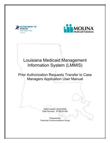 PA Requests for Case Managers User Manual - Louisiana Medicaid