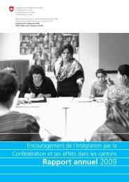 Rapport annuel 2009 - Bundesamt für Migration