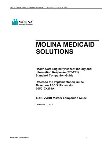 molina medicaid solutions