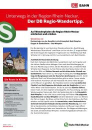 von der Kurpfalz in die Kaiserpfalz Bad Wimpfen - Bahn.de