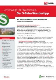 Unterwegs im Pfälzerwald. Der S-Bahn-Wandertipp. - Bahn.de