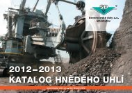 Katalog hnědého uhlí na rok 2012-2013 - Severočeské doly as