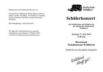 Programm 27.06.2010 - FV-Musikschule-Waldkirch.de