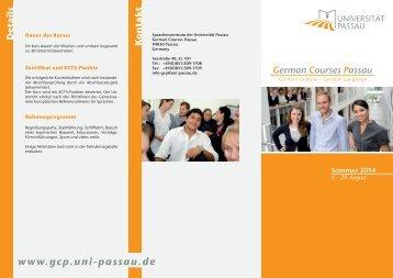 Flyer Deutsch - Sprachenzentrum - Universität Passau