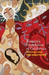 Read our 2010-11 Annual Report! - Women's Foundation of California