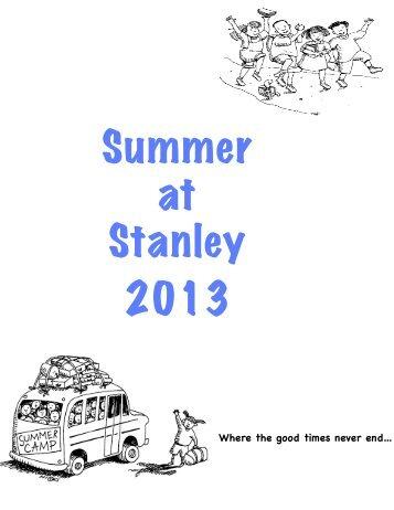 Sample Specialty Camp Brochure - Stanley British Primary School