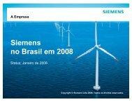 Siemens no Brasil em 2008 - Associação PROFIBUS Brasil