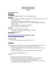 Perception Research Paper Instruction. - Speechsuccess.net