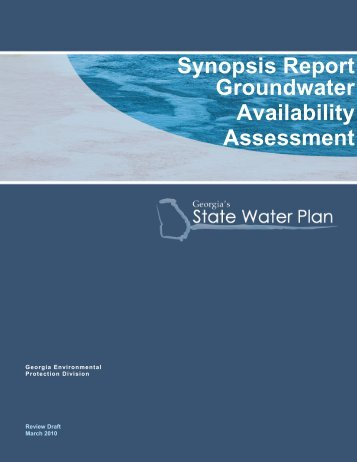 Full Synopsis Report - Georgia's State Water Plan