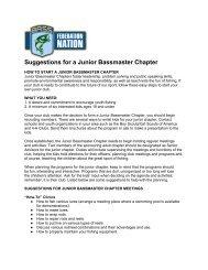 Suggestions for a Junior Bassmaster Chapter - Bassmaster.com