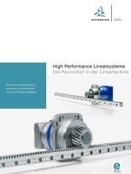 High Performance Linearsysteme Die Revolution in der Lineartechnik
