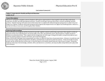 Kindergarten - Bayonne Board of Education