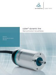 cyber® dynamic line Servomotori brushless - WITTENSTEIN alpha