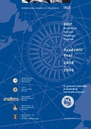 Academic Year 2008 - 2009 - International Academy of Life Sciences