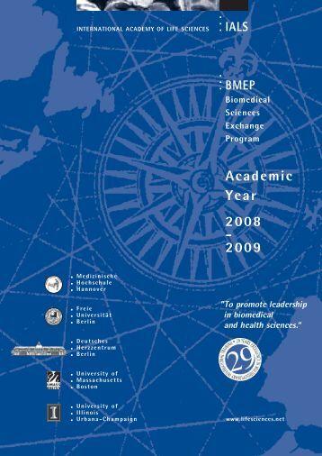 Academic Year 2008 - 2009 - International Academy of Life Sciences