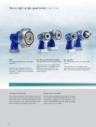 Servo right-angle gearheads High End - WITTENSTEIN alpha