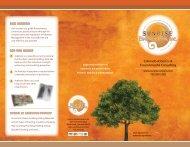 Tri-Fold Brochure - A Figure of Speech, Inc.