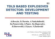 tdls based explosives detector: development and testing - DLS Lab