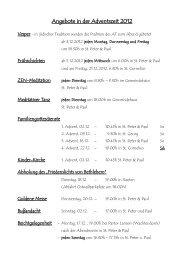 Angebote in der Adventszeit 2012 - Kirche Straelen