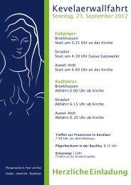 Sonntag, 23. September 2012 - Kirche Straelen
