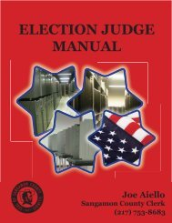 Instructions and Guidelines for Election Day Procedures