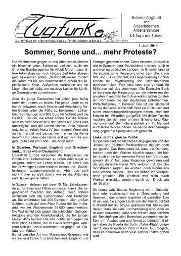 1. Juni 2011 - Sozialistische Arbeiterstimme
