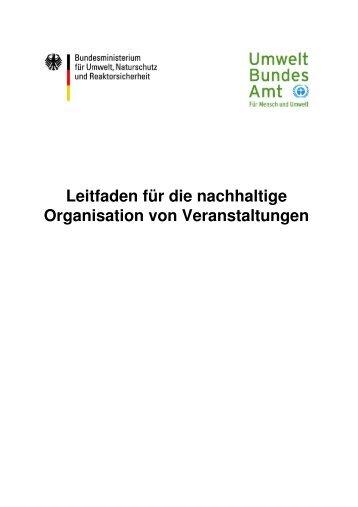 Leitfaden für die nachhaltige Organisation von ... - Atmosfair