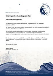 Speisenauswahl - Sailing and More
