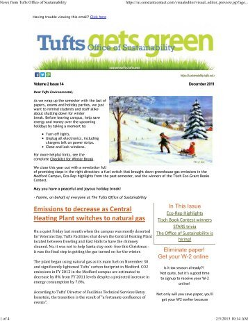 December 19, 2011 - Office of Sustainability - Tufts University