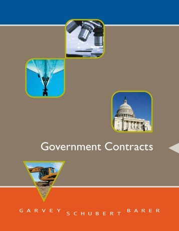Garvey Schubert Barer Government Contracts Brochure