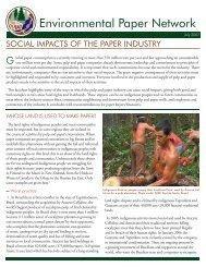 Social Impact Fact Sheet - Environmental Paper Network