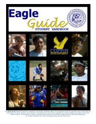 The Eagle Guide-Student Handbook is published by the Division of ...